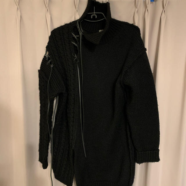 Yohji Yamamoto(ヨウジヤマモト)のヨウジヤマモト  革紐ニット メンズのトップス(ニット/セーター)の商品写真