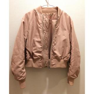 ミラオーウェン(Mila Owen)のミラオーエン Mila Owen ピンクジャケット ma1 サイズ0(ブルゾン)