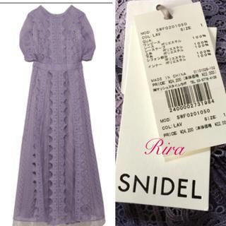 snidel - 完売🌷新作新品🍀スナイデルレースフレアワンピース