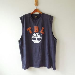 Timberland - ティンバーランド ノースリーブカットソー USA製 ネイビー XXL(t-660
