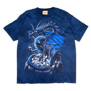 《アニマルプリント》 ザ・マウンテン ドラゴン Tシャツ タイダイ USA製(Tシャツ/カットソー(半袖/袖なし))