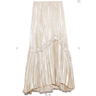 snidel - snidel シャイニープリーツスカート