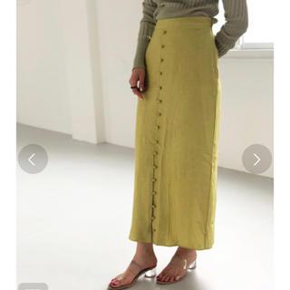 トゥデイフル(TODAYFUL)の新品未使用 todayful トゥディフル フロントボタンサテンスカート(ロングスカート)