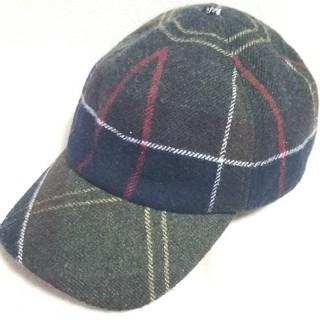 バーブァー(Barbour)のバブアーBarbourチェックメリノウールキャップ帽子✨美品✨(キャップ)