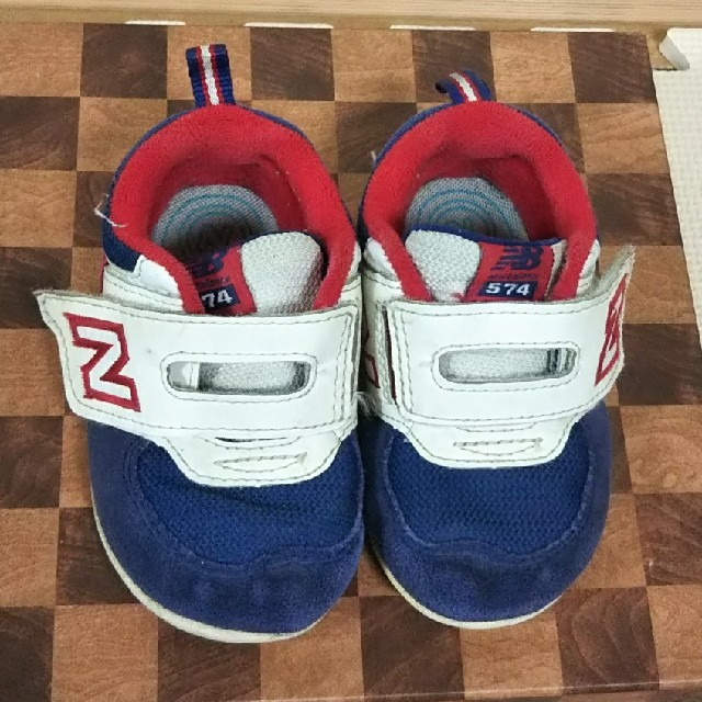 New Balance(ニューバランス)のお値下げ^^)ニューバランス スニーカー 12.5 キッズ/ベビー/マタニティのベビー靴/シューズ(~14cm)(スニーカー)の商品写真