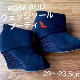 ROSE BUD - 人気 ROSE BUD ウェッジソール ウェッジヒール ブーティ ショートブーツ