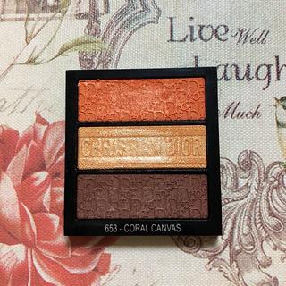 Dior - 限定 Dior トリオ ブリック パレット 653 ゴールド オレンジ ブラウン