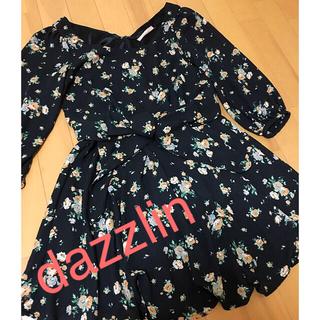 dazzlin - dazzlin ワンピース 黒 花柄