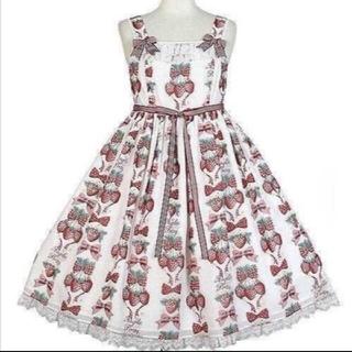 アンジェリックプリティー(Angelic Pretty)のstrawberry doll ジャンパースカート(ひざ丈ワンピース)