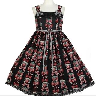 アンジェリックプリティー(Angelic Pretty)のstrawberrydoll ジャンパースカート(ひざ丈ワンピース)