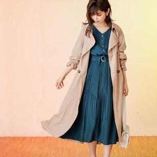 natural couture - バックギャザートレンチコート