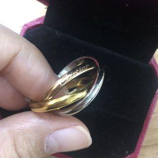 Cartier - カルティエ リング トリニティ 指輪 スリーカラー 三連 #56