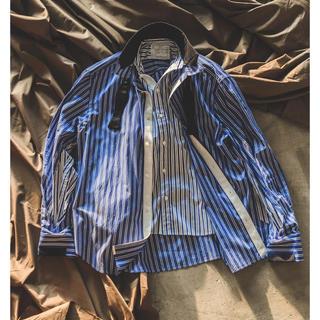 sacai - sacai 20ss ストライプレイヤードシャツ