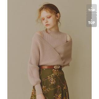 リリーブラウン(Lily Brown)の新品未使用  レイヤードオフショルニット(ニット/セーター)