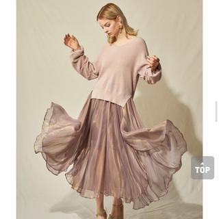 リリーブラウン(Lily Brown)の新品未使用 光沢シアスカート(ロングスカート)