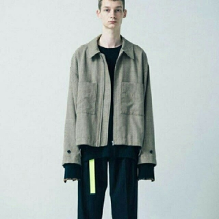 SUNSEA - stein 19ss OVER SLEEVE DRIZZLER JACKET