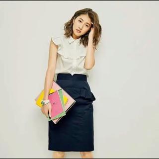 トランテアンソンドゥモード(31 Sons de mode)のトランテアンソンドゥモード★フリルポケット付きタイトスカート(ひざ丈スカート)