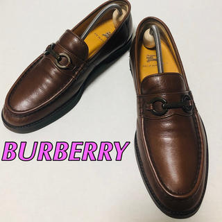BURBERRY - 《美品》BURBERRY/バーバリー ビットローファー 25.5cm  除菌済み