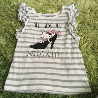 サンリオ - 肩フリル キティ Tシャツ