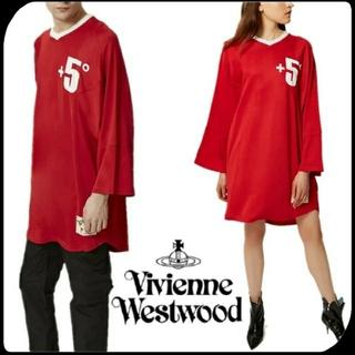 ヴィヴィアンウエストウッド(Vivienne Westwood)のヴィヴィアン ウエストウッド 新品 オーブ BIG +5°トップス ワンピース(Tシャツ/カットソー(七分/長袖))