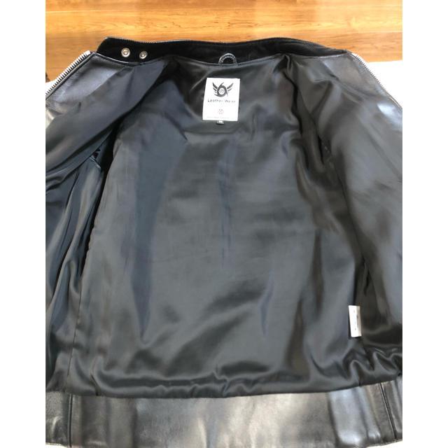 666(シックスシックスシックス)の666 ライダースジャケット  シングルライダース トリプルシックス 36 メンズのジャケット/アウター(ライダースジャケット)の商品写真