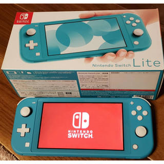Nintendo Switch - ☆新品同様☆送料無料任天堂スイッチ ライトSwitchターコイズ/保護フィルム付