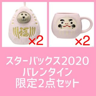 Starbucks Coffee - スターバックス ★ だるまマグ&ベアリスタだるまmini 4点セット