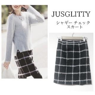 JUSGLITTY - 【JUSGLITTY】シャギー チェック スカート