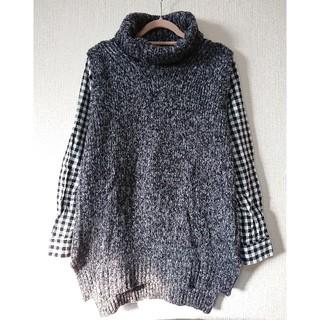 フェリシモ(FELISSIMO)のリブインコンフォート/ニットシャツ(ニット/セーター)