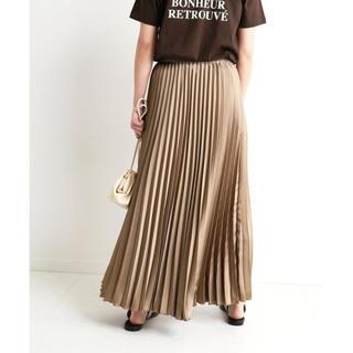 IENA SLOBE - 【完売商品】サテンプリーツロングスカート