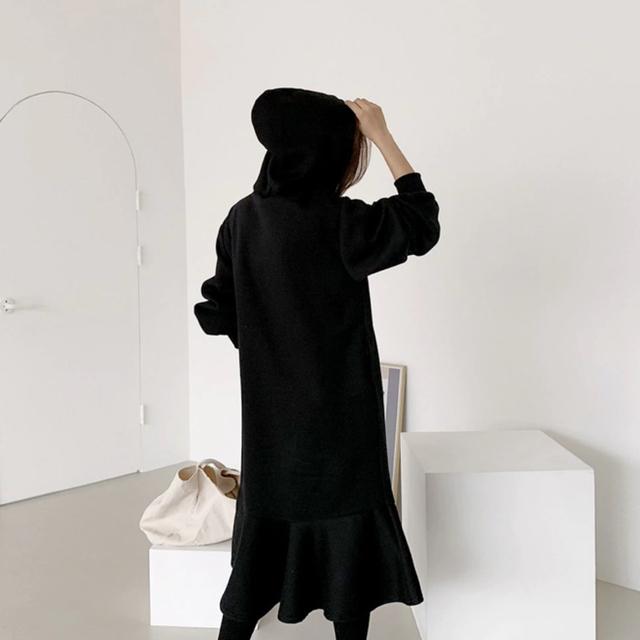 ZARA(ザラ)の人気商品 新作 パーカー 全2色 ブラック ホワイト マキシワンピ ロングワンピ レディースのワンピース(ロングワンピース/マキシワンピース)の商品写真