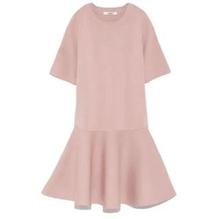 BARNEYS NEW YORK - 美品♡snidel 5部袖フレアニットワンピース さくらピンク