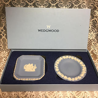 WEDGWOOD - 新品 未使用 ウェッジウッド ジャスパー ペールブルー プレート トレー 小物入