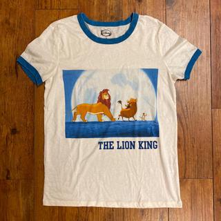 Disney - 古着 ヴィンテージTシャツ ライオンキング ハクナマタタ シンバ  ブルー 半袖