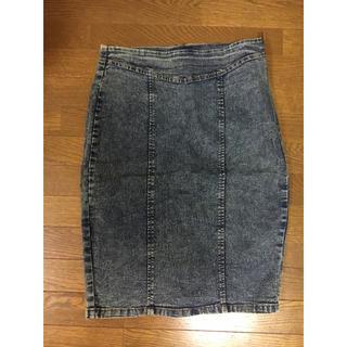 アナップ(ANAP)のANAP デニム風 タイトスカート(ひざ丈スカート)