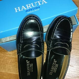 HARUTA - ローファー 22,5 黒 ハルタ 2E