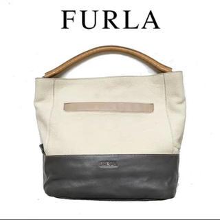 Furla - FURLA フルラ レザー トートバッグ ハンドバッグ レザー ホワイト 白