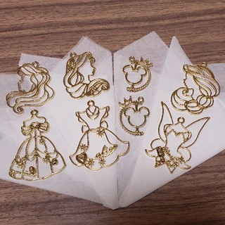 Disney - ディズニー風♥️ プリンセス風♥️ ミッキー風♥️超可愛い ゴールドチャーム4