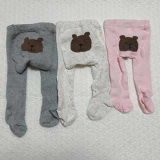 babyGAP - 美品 baby gap クマさん タイツ 3足セット