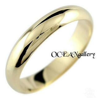 送料無料 8号 ゴールド サージカルステンレス シンプル甲丸リング 指輪(リング(指輪))