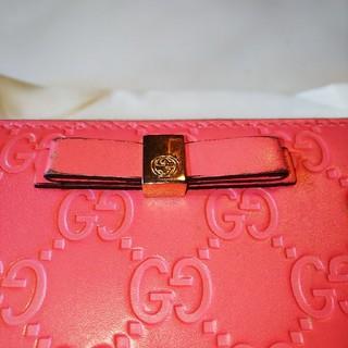 Gucci - グッチ。ピンク長財布。値下げ