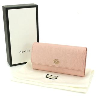 Gucci - GUCCIマーモントレザーコンチネンタルウォレット新品ライトピンク長財布 正規品