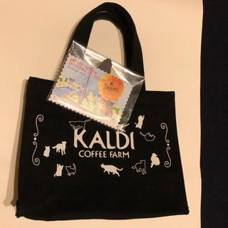 カルディ(KALDI)のカルディ 猫の日バッグ カレンダー 2点セット(トートバッグ)