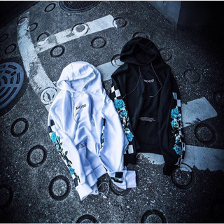 OFF-WHITE - Legenda MOOD Rose hoodie 薔薇 バラ パーカー