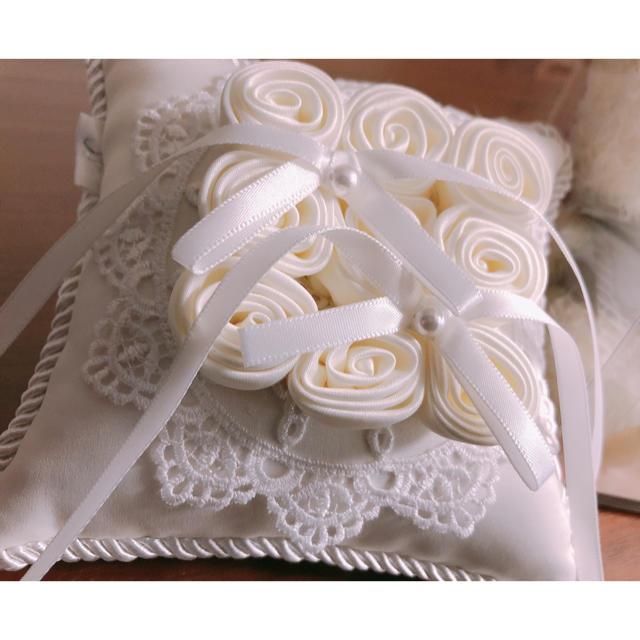 4℃(ヨンドシー)のウエディングテディ&4℃リングピロー レディースのフォーマル/ドレス(ウェディングドレス)の商品写真