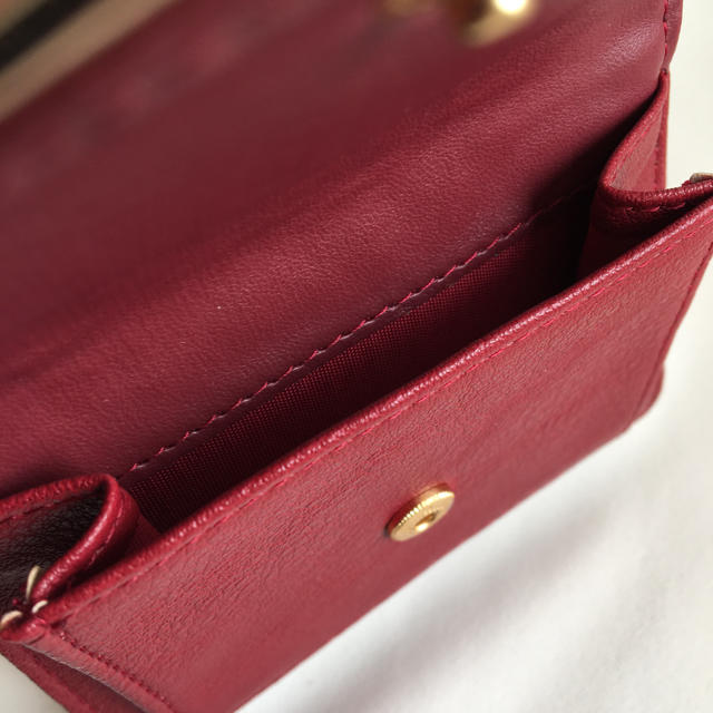 CECIL McBEE(セシルマクビー)の新品 セシルマクビー 三つ折り財布 ミニ財布 小財布 折り財布 レッド 赤 レディースのファッション小物(財布)の商品写真