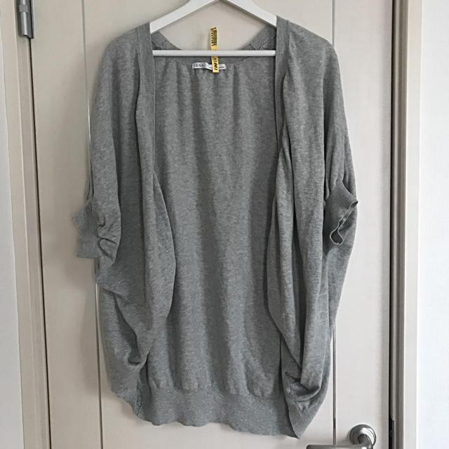 IENA(イエナ)のイエナ  ロングカーディガン 灰色 美品 半袖 レディースのトップス(カーディガン)の商品写真