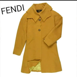 フェンディ(FENDI)のフェンディ 正規品 可愛らしい衿のデザイン♪ M相当 ミディアム コート(ロングコート)
