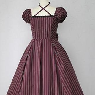 ヴィクトリアンメイデン(Victorian maiden)のVictorian Maiden レジメンタルバッスルロングワンピース(ロングワンピース/マキシワンピース)