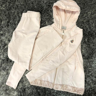 MONCLER - モンクレール 正規品 スウェット セットアップ レディース 12A ピンク